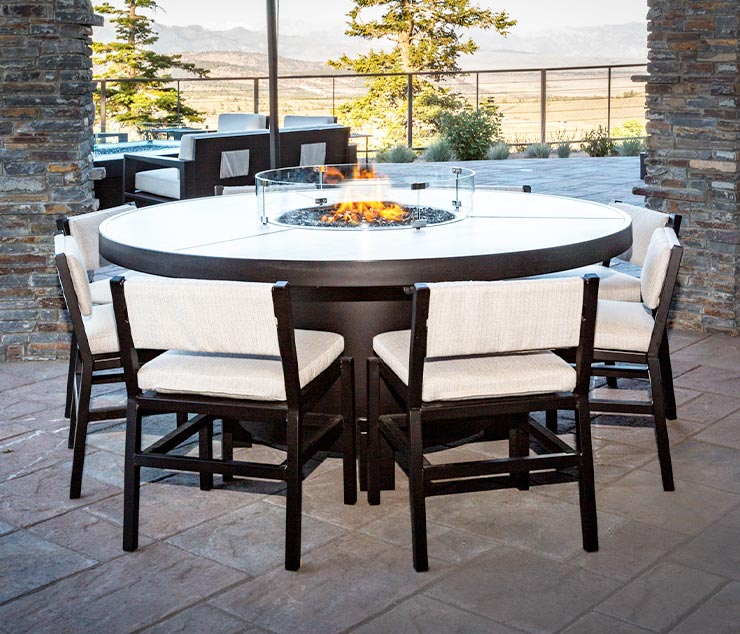 Fire Pit Tables, Dining Height from So Cal Fire Pits