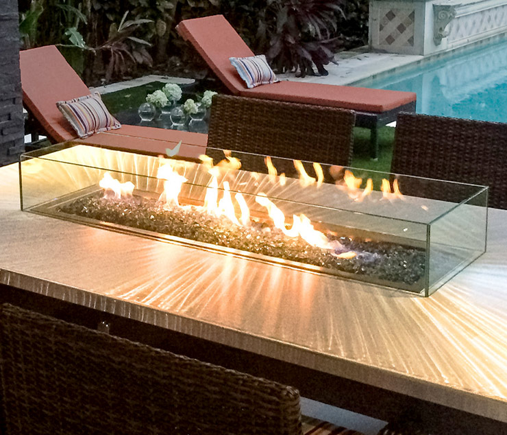 Glass Wind Guards and Wind Screens from So Cal Fire Pits